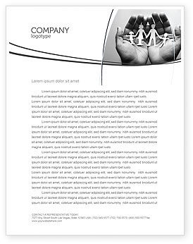Concern For The Family Letterhead Template, 07896, Medical — PoweredTemplate.com