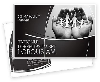 Medical: Modello Cartolina - La preoccupazione per la famiglia #07896