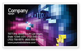 Mosaic Of Pixels Business Card Template, 07904, Abstract/Textures — PoweredTemplate.com