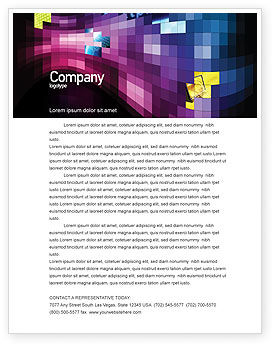 Abstract/Textures: Mosaic Of Pixels Letterhead Template #07904