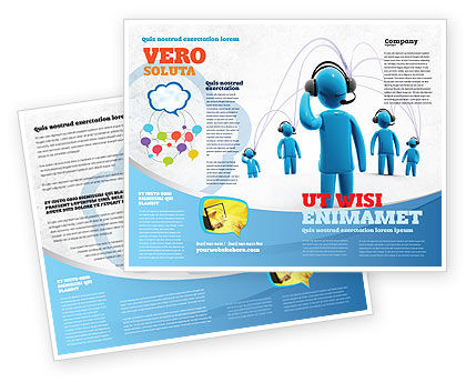 Wireless Community Brochure Template, 07910, Telecommunication — PoweredTemplate.com