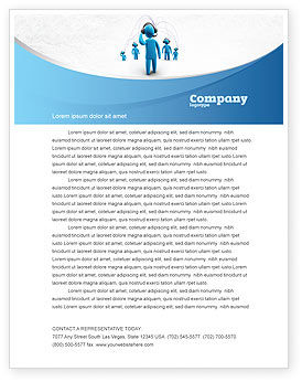 Wireless Community Letterhead Template, 07910, Telecommunication — PoweredTemplate.com