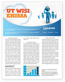 Telecommunication: Wireless Community Newsletter Template #07910