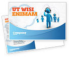 Telecommunication: Wireless Community Postcard Template #07910