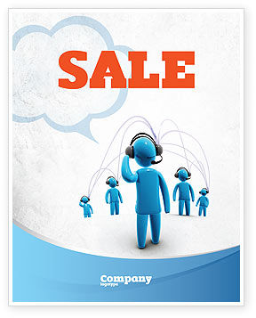 Telecommunication: Wireless Community Sale Poster Template #07910
