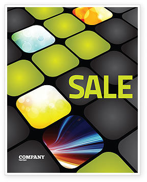 Business: Lighted Path Sale Poster Template #07916