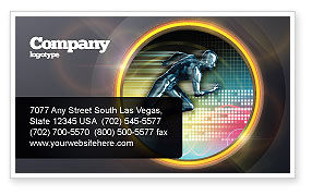 Sports: Running Iron Man Business Card Template #07928