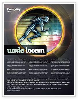 Running Iron Man Flyer Template, 07928, Sports — PoweredTemplate.com