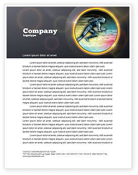 Sports: Running Iron Man Letterhead Template #07928
