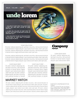 Sports: Running Iron Man Newsletter Template #07928