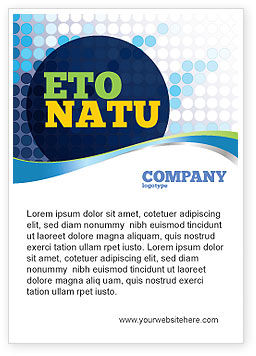 Dotted Blue Theme Ad Template, 07931, Business — PoweredTemplate.com