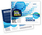 Business: Gestippelde Blauw Thema Brochure Template #07931