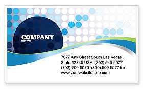 Dotted Blue Theme Business Card Template, 07931, Business — PoweredTemplate.com