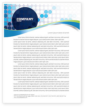 Business: Dotted Blue Theme Letterhead Template #07931