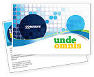 Business: Dotted Blue Theme Postcard Template #07931