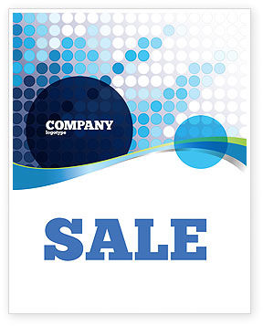 Dotted Blue Theme Sale Poster Template, 07931, Business — PoweredTemplate.com