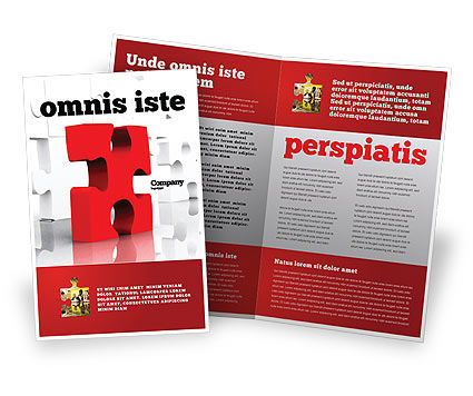 Fitting Puzzle Brochure Template