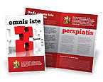 Consulting: Fitting Puzzle Brochure Template #07946