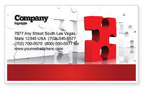 Consulting: Fitting Puzzle Business Card Template #07946