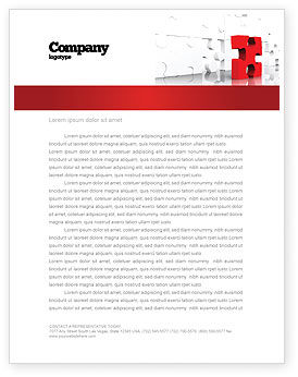 Consulting: Fitting Puzzle Letterhead Template #07946