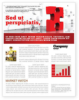 Consulting: Fitting Puzzle Newsletter Template #07946