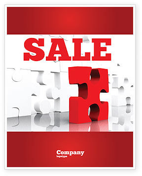 Fitting Puzzle Sale Poster Template