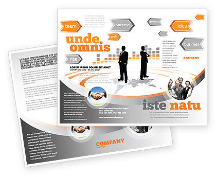 Business Building Brochure Template, 07965, Consulting — PoweredTemplate.com