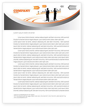 Consulting: Business Building Letterhead Template #07965