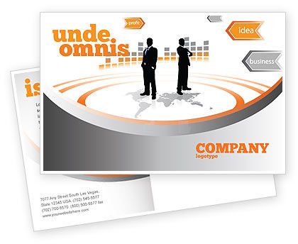 Consulting: Business Building Postcard Template #07965