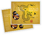 Holiday/Special Occasion: Modèle de Brochure de dragon chinois #07985