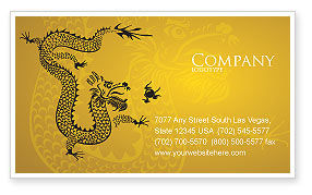 Holiday/Special Occasion: Chinese Dragon Business Card Template #07985