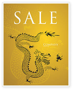 Holiday/Special Occasion: Chinese Dragon Sale Poster Template #07985