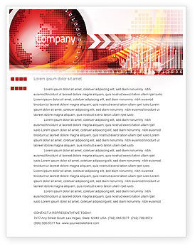 Global: Wereld Thema Briefpapier Template #08027