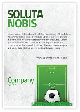 Sports: Europese Voetbalveld Advertentie Template #08032