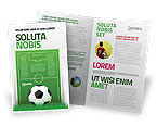 Sports: European Football Field Brochure Template #08032