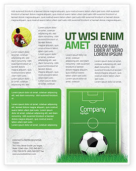 Sports: European Football Field Flyer Template #08032