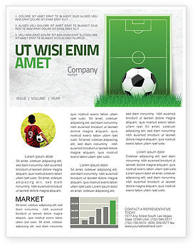 Sports: European Football Field Newsletter Template #08032