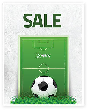 European Football Field Sale Poster Template, 08032, Sports — PoweredTemplate.com