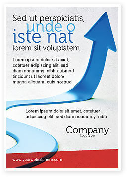 Blue Arrow Path Ad Template, 08043, Business Concepts — PoweredTemplate.com