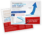 Business Concepts: Blue Arrow Path Brochure Template #08043