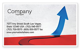 Blue Arrow Path Business Card Template