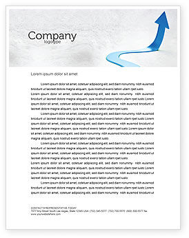 Business Concepts: Blue Arrow Path Letterhead Template #08043