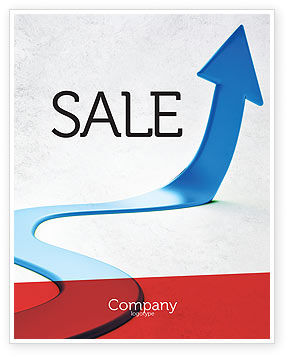 Blue Arrow Path Sale Poster Template, 08043, Business Concepts — PoweredTemplate.com