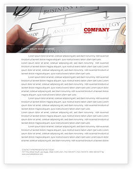 Consulting: Business Plan Analysis Letterhead Template #08068