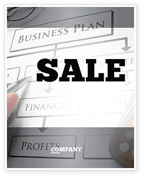 Business Plan Analysis Sale Poster Template, 08068, Consulting — PoweredTemplate.com