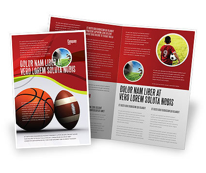 Sports: Modello Brochure - Sfere di sport #08071