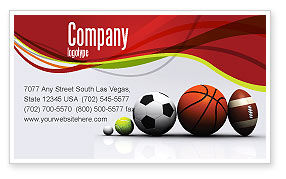 Sport Balls Business Card Template, 08071, Sports — PoweredTemplate.com
