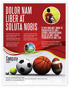 Sport Balls Flyer Template Background In Microsoft Word Publisher