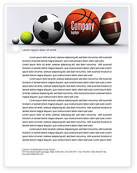 Sport balls letterhead template layout for microsoft word for Sports program template free