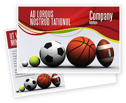 Sport Balls Postcard Template, 08071, Sports — PoweredTemplate.com